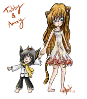 Tabby and Amay by Qynat
