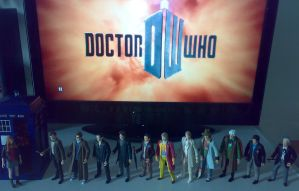 Eleven Doctors figures by Carnivius