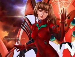 In Tune With Life - Asuka, Evangelion by Mazarinem