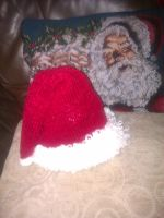 Hand Knit with Love  -  Baby Santa Hat by magscreates