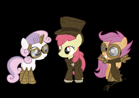 Steam Punk Cutie Mark Crusaders by Kittyhawkman