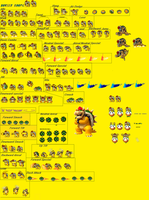 New bowser koopa sprites by shadowsilverfox12
