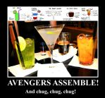 Avengers cocktails made REAL by Mistiqarts