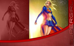 Supergirl in Space Background by cotrackguy