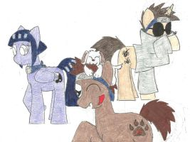 My Little Poninja: Team Kurenai by the-ocean-sings