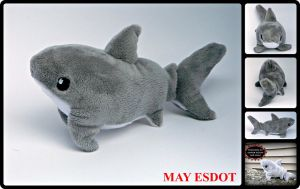 Small Great White Shark Beanie Plush (FOR SALE) by MayEsdot