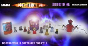 Doctor Who - 10th Doctor Era Models by mikedaws