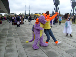 MCMmay2010: Spyro and Crash by xPoisonedxRosex