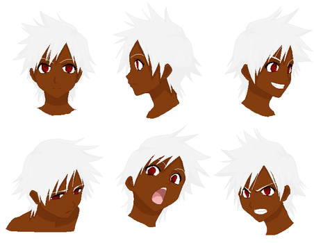 Dannie Yu Face Expressions by TaintedOneNinja