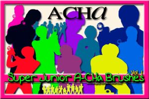 Super Junior A-CHa Brushes 1 by NileyJoyrus14