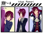 P-A Age meme - Clematis. by PsychoticHysteria