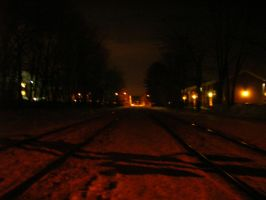 Tracks in Red Snow by ARAbbey