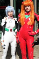 Rei and Asuka by Aether-Shadow
