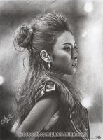 dara 2ne1 pencil drawing p2m by phamMinhMan