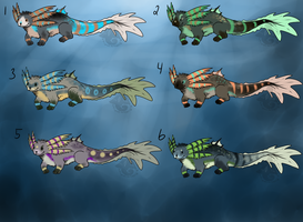 Mudpuppy Adoptables Sheet 1 CLOSED by animalartist16