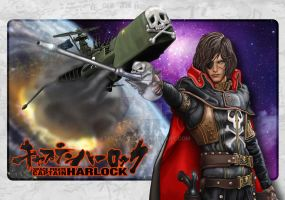 Captain Harlock Commission by steveagoto