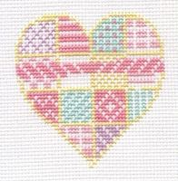 Patchwork heart cross stitch by Lil-Samuu