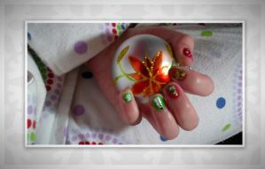 Christmas Nail Art 9 by vukery