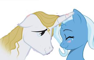 Trixie Lulamoon and Prince Blueblood by 3D4D