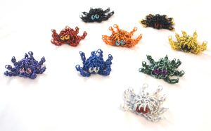 Little Chainmaille Octopi by SerenFey