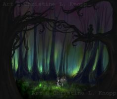 fireflies.at.dusk by kiki-doodle