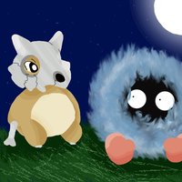 Cubone and Tangela by Anime-MLP