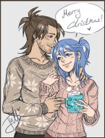 KH AU: merry (belated) christmas by Jullika