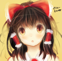 Reimu! One layer paint by Asa-tan