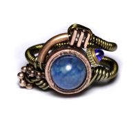 Steampunk Blue sapphire Ring by CatherinetteRings