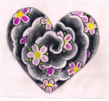 Heart cherry blossoms by Kirzten