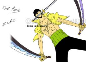 One piece cp9-Zoro color by knight-sx
