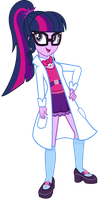 EQG - Sci-Twi in a Lab Coat by REMcMaximus