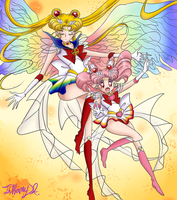 Sailor Moon manga coloring no. 2 by iTiffanyBlue