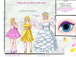 Glinda the Good - character design by LogicinWonderland