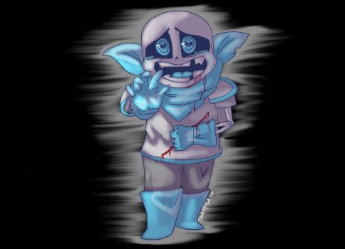 Underswap genocide SANS by shade0fPinkHeart