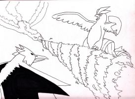 Legendary Birds Lineart by icepisces32