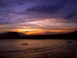 Sunset at Bandar Lampung by indonesia