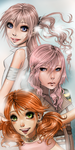 FFXIII Girls by kotlaska93