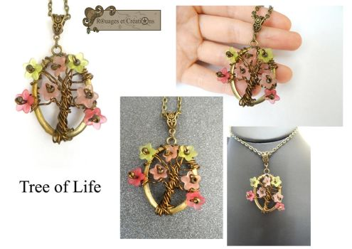 Tree of Life with flowers by Rouages-et-Creations