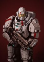 Futuristic space armor by FonteArt