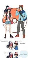 Neji and Hinata ://: Hilbert and Hilda_ Pokemon by HitoriLoveNejiHina