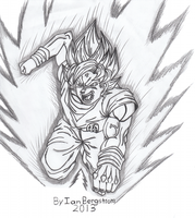 Dragon Ball Z Super Sayian Son Goku Fan Art by iansart2012