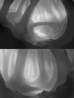 Value + Composition Practice by RighteousYouth