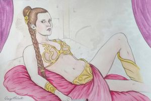 Slave Leia  by SeymourClearly