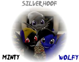 Minty, Silver Hoof and Wolfy by Neros1990