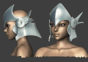 2010 Comicon: Valkyrie WIP 2 by HazardousArts