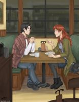 Commission: Cafe by laurbits