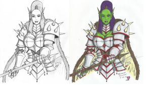 Nailkaiser the Orc Comparison (Inked - Coloured) by Arshesmaral