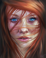 Girl with the radiant blue eyes by Cane-force