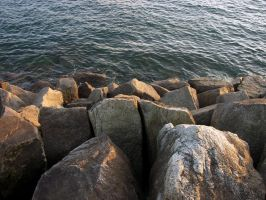 Breakwater Rocks by squishy2004